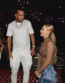 French Montana and Iggy Azalea attend Jewel Nightclub at the Aria Resort Casino on July 23 2016 in Las Vegas Nevada