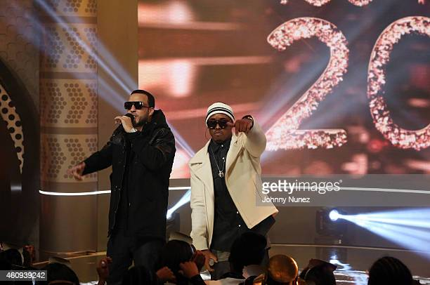 French Montana and Jeremih perform during BET's '106 Party' at BET Studios on December 12 in New York City