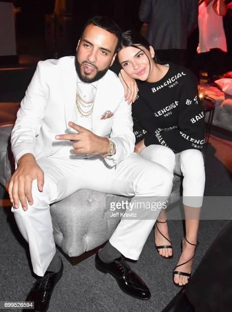 French Montana and Kendall Jenner toast to Sean 'Diddy' Combs and the world premiere of Can't Stop Won't Stop at the official after party powered by...