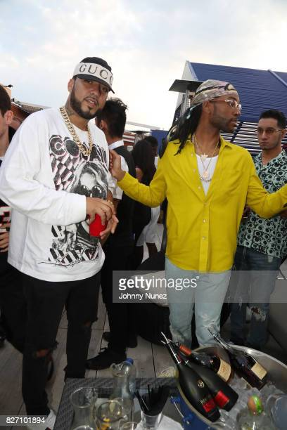 French Montana and PARTYNEXTDOOR attend the French Montana 'Unforgettable Party' In Toronto For Caribana 2017 on August 6 2017 in Toronto Canada