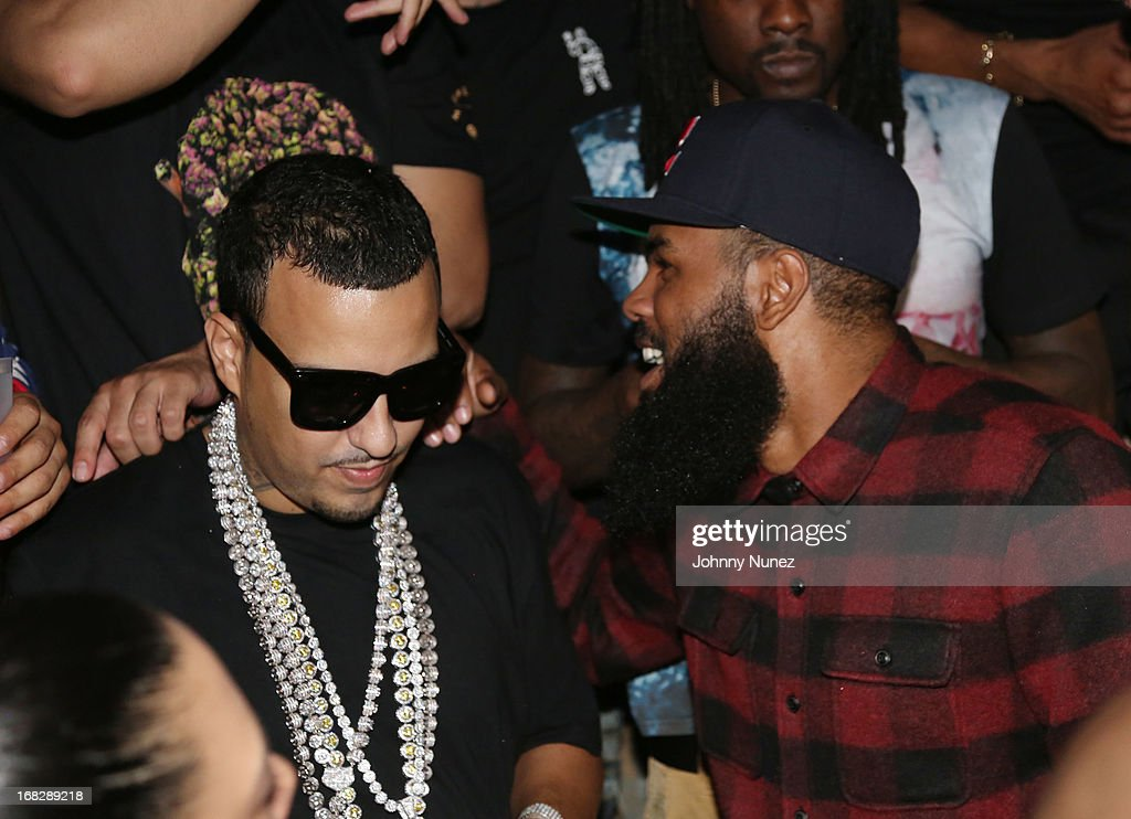 <a gi-track='captionPersonalityLinkClicked' href=/galleries/search?phrase=French+Montana&family=editorial&specificpeople=7131467 ng-click='$event.stopPropagation()'>French Montana</a> and Stalley attend the <a gi-track='captionPersonalityLinkClicked' href=/galleries/search?phrase=French+Montana&family=editorial&specificpeople=7131467 ng-click='$event.stopPropagation()'>French Montana</a> Album listening party at HiLo on May 7, 2013 in New York City.