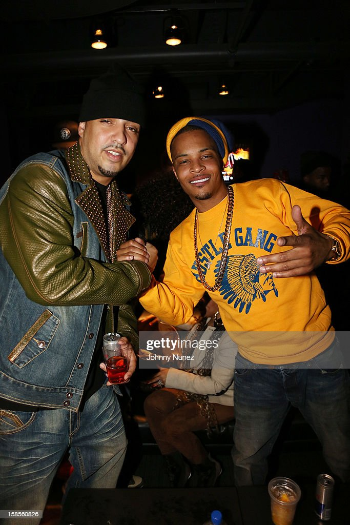 <a gi-track='captionPersonalityLinkClicked' href=/galleries/search?phrase=French+Montana&family=editorial&specificpeople=7131467 ng-click='$event.stopPropagation()'>French Montana</a> and T.I. attend 'T.I. In Concert' at Best Buy Theater on December 18, 2012 in New York, United States.