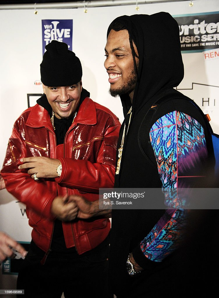 <a gi-track='captionPersonalityLinkClicked' href=/galleries/search?phrase=French+Montana&family=editorial&specificpeople=7131467 ng-click='$event.stopPropagation()'>French Montana</a> (L) and <a gi-track='captionPersonalityLinkClicked' href=/galleries/search?phrase=Waka+Flocka+Flame&family=editorial&specificpeople=6915851 ng-click='$event.stopPropagation()'>Waka Flocka Flame</a> attend The VH1 Save The Music Foundation's 'Songwriter Music Series' With Swizz Beats at Hard Rock Cafe - Times Square on January 17, 2013 in New York City.