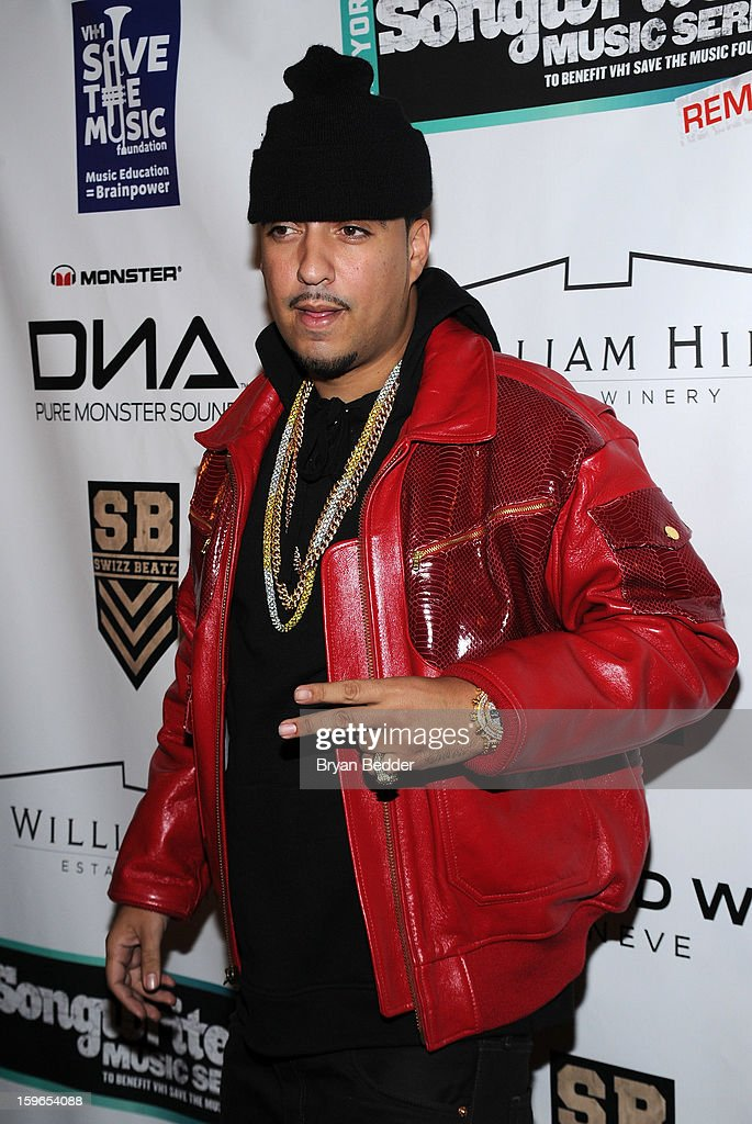 French Montana attends VH1 Save The Music Foundation's Songwriters Music Series Remix featuring Swizz Beatz & Friends, presented by Monster DNA Headphones & William Hill Estate Winery at Hard Rock Cafe New York on January 17, 2013 in New York City.