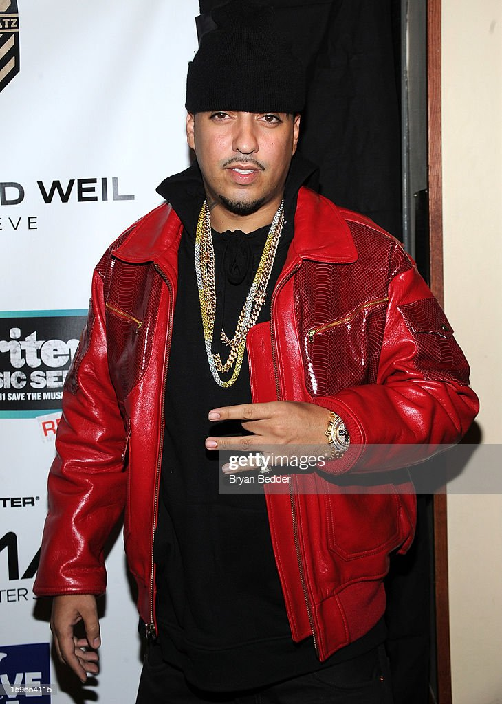 <a gi-track='captionPersonalityLinkClicked' href=/galleries/search?phrase=French+Montana&family=editorial&specificpeople=7131467 ng-click='$event.stopPropagation()'>French Montana</a> attends VH1 Save The Music Foundation's Songwriters Music Series Remix featuring Swizz Beatz & Friends, presented by Monster DNA Headphones & William Hill Estate Winery at Hard Rock Cafe New York on January 17, 2013 in New York City.