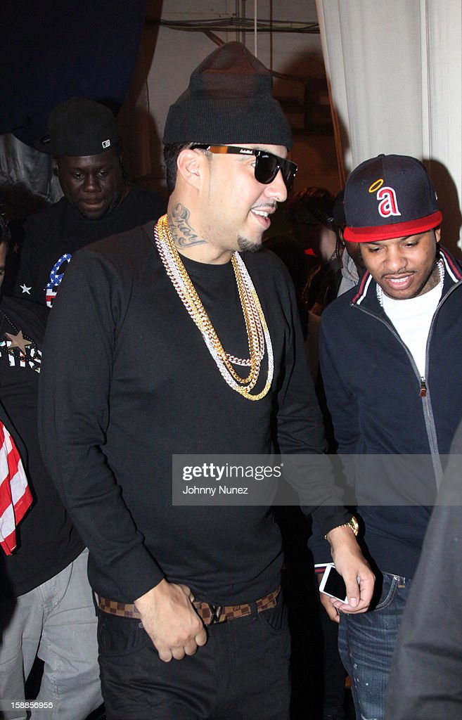 <a gi-track='captionPersonalityLinkClicked' href=/galleries/search?phrase=French+Montana&family=editorial&specificpeople=7131467 ng-click='$event.stopPropagation()'>French Montana</a> backstage at the BET '106 & Party' New Years Eve celebration at BET Studios on December 31, 2012, in New York City.