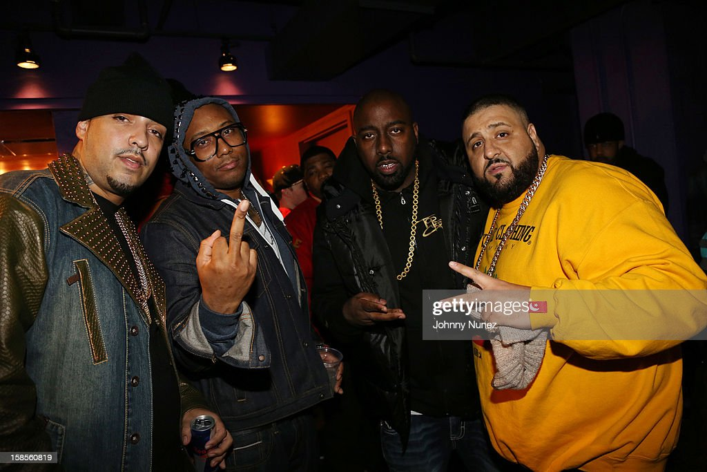 French Montana, Maino, Trae tha Truth, and DJ Khaled attend 'T.I. In Concert' at Best Buy Theater on December 18, 2012 in New York, United States.