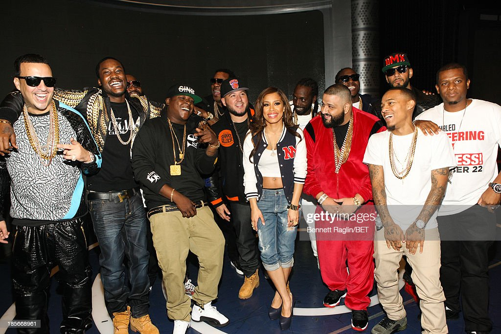 French Montana, Meek Mill, Rick Ross, Jadakiss, Busta Rhymes, Keshia Chante, DJ Khaled, Ace Hood, Swizz Beatz, and Bow Wow attend 106 & Park at 106 & Park studio on October 22, 2013 in New York City.