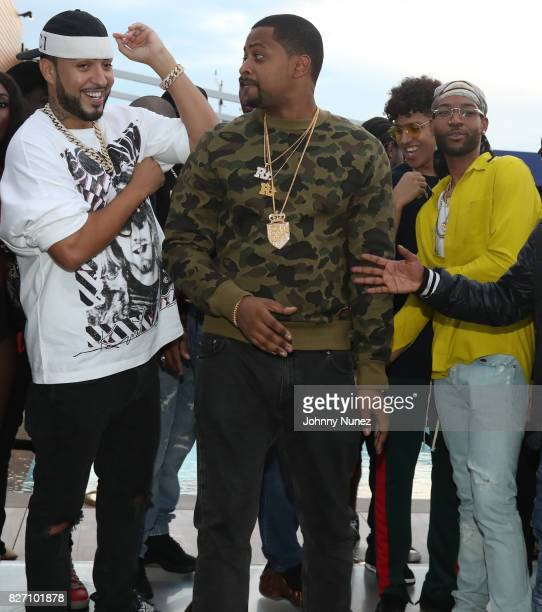 French Montana OVO Chubbs and PARTYNEXTDOOR attend the French Montana 'Unforgettable Party' In Toronto For Caribana 2017 on August 6 2017 in Toronto...