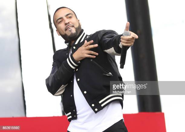 French Montana performs onstage during the 2017 Daytime Village at The iHeartRadio Music Festival held at MGM Festival Grounds on September 23 2017...