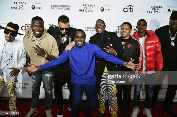 French Montana Sean Combs Mase Justin Combs and Christian Casey Combs attend the 'Can't Stop Won't Stop The Bad Boy Story' Premiere on April 27 2017...