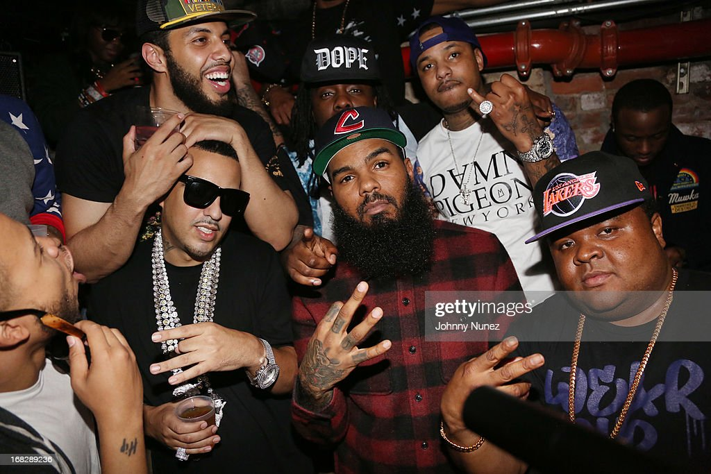 <a gi-track='captionPersonalityLinkClicked' href=/galleries/search?phrase=French+Montana&family=editorial&specificpeople=7131467 ng-click='$event.stopPropagation()'>French Montana</a>, Stalley, Fred The Godson, (back center) <a gi-track='captionPersonalityLinkClicked' href=/galleries/search?phrase=Wale+-+Rapper&family=editorial&specificpeople=8770277 ng-click='$event.stopPropagation()'>Wale</a> and (back right) <a gi-track='captionPersonalityLinkClicked' href=/galleries/search?phrase=Chinx&family=editorial&specificpeople=8752901 ng-click='$event.stopPropagation()'>Chinx</a> Drugz attend the <a gi-track='captionPersonalityLinkClicked' href=/galleries/search?phrase=French+Montana&family=editorial&specificpeople=7131467 ng-click='$event.stopPropagation()'>French Montana</a> Album listening party at HiLo on May 7, 2013 in New York City.