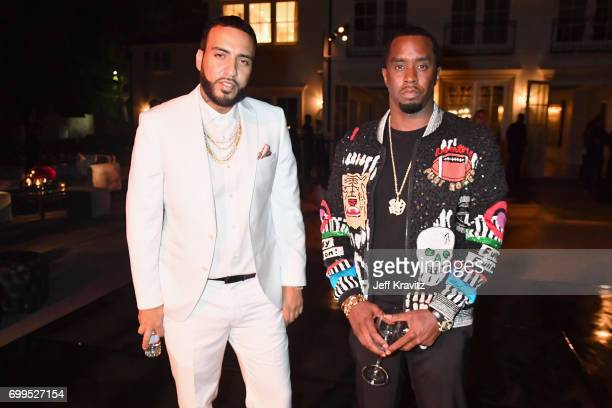 French Montana toasts to Sean 'Diddy' Combs and the world premiere of Can't Stop Won't Stop at the official after party powered by CIROC Vodka and...