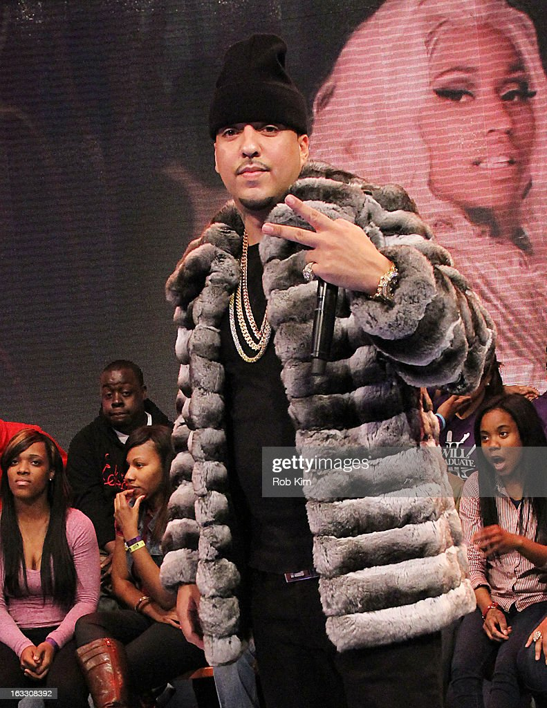 <a gi-track='captionPersonalityLinkClicked' href=/galleries/search?phrase=French+Montana&family=editorial&specificpeople=7131467 ng-click='$event.stopPropagation()'>French Montana</a> visits BET's '106 & Park' at BET Studios on March 7, 2013 in New York City.