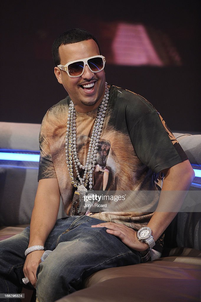 <a gi-track='captionPersonalityLinkClicked' href=/galleries/search?phrase=French+Montana&family=editorial&specificpeople=7131467 ng-click='$event.stopPropagation()'>French Montana</a> visits BET's '106 & Park' at BET Studios on May 6, 2013 in New York City.