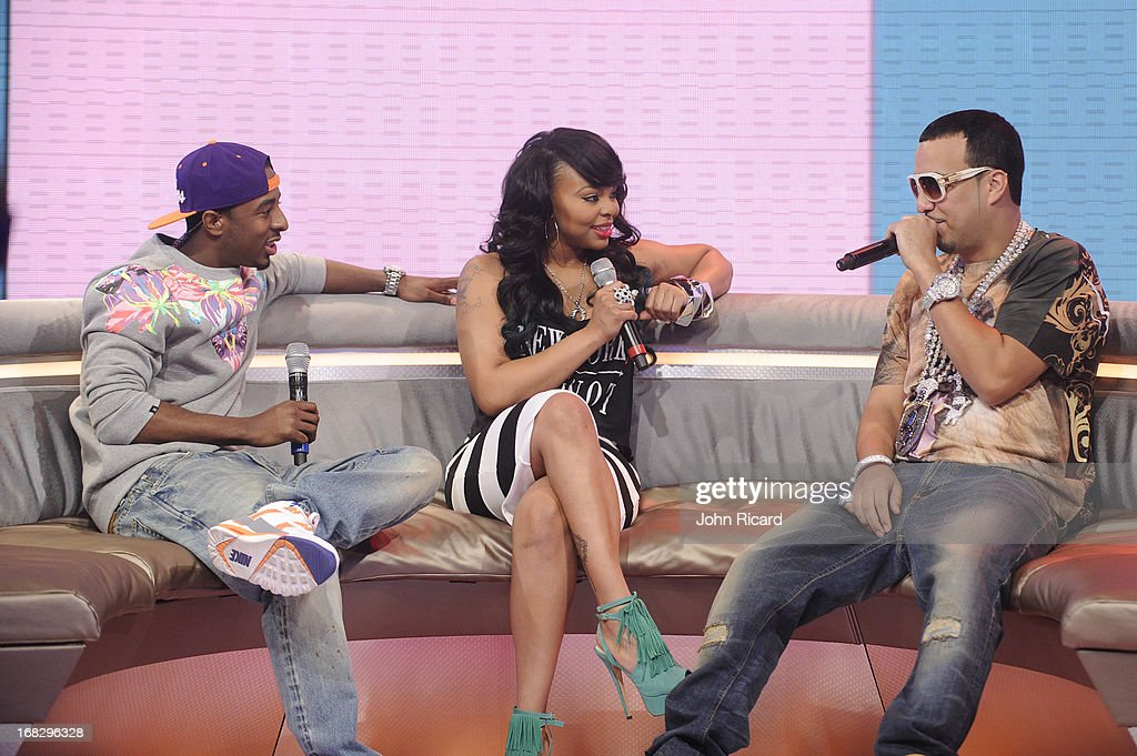 French Montana visits BET's '106 & Park' at BET Studios on May 6, 2013 in New York City.