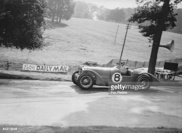 French motor racer Louis Gerard driving a Darracq car at Donington Park 3rd September 1938