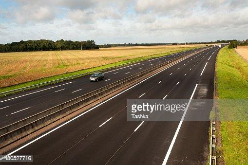 Französische Autobahn : Stock-Foto