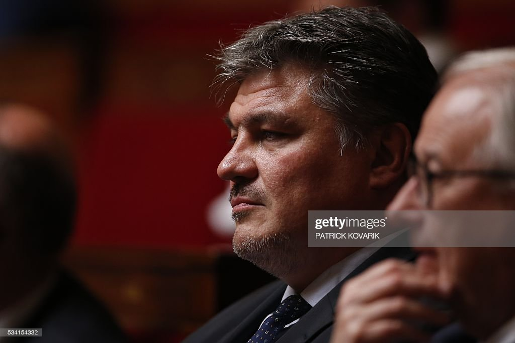 French MP David Douillet attends a session of Questions to the Government, on May 25, 2016 at the National Assembly in Paris.