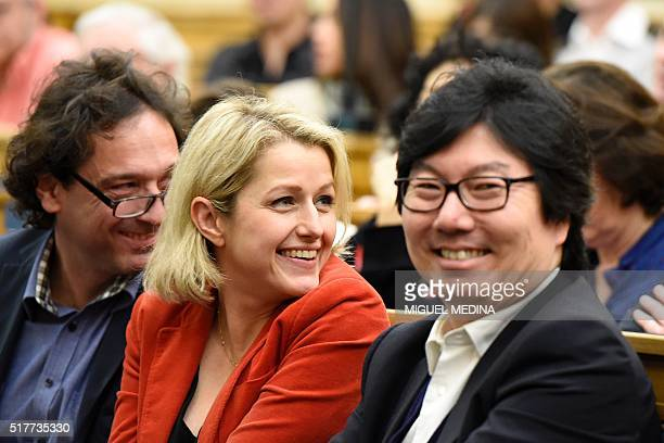 French MP for the Gard Christophe Cabard French Junior minister Barbara Pompili and French Junior Minister for State reform and Simplification...