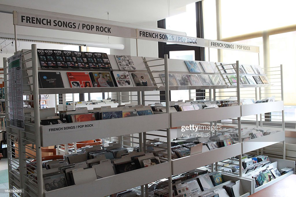 French music is displayed to borrow from the library during 'It's All About Piano' festival at The Institut Francais on March 22 2013 in London...