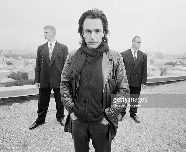 French musician and composer Jean Michel Jarre in Russia circa 1997