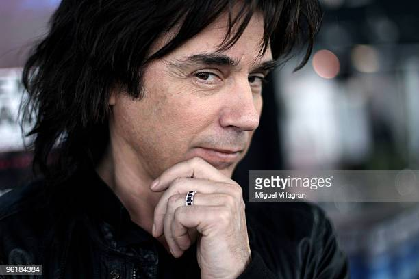 French musician Jean Michel Jarre poses for a picture after a news conference on January 26 2010 in Munich Germany