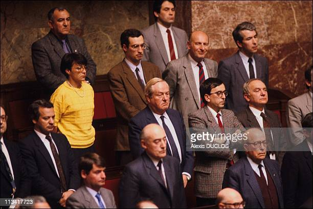 French National Assemby Debate On Rulings On April 22th 1986 In ParisFrance