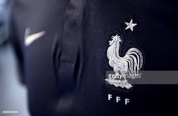 A French national football team jersey is pictured on December 3 2013 in Paris AFP PHOTO / FRANCK FIFE