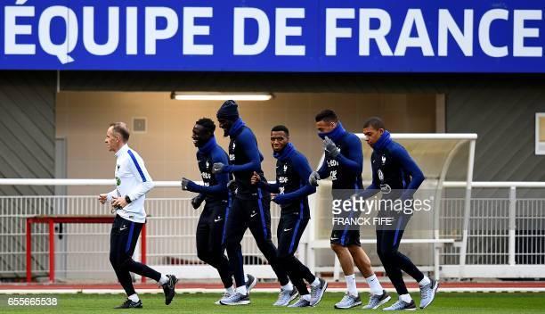 French national football team physiotherapist Christophe Geoffroy defender Benjamin Mendy midfielder Tiemoue Bakayoko midfielder Thomas Lemar...