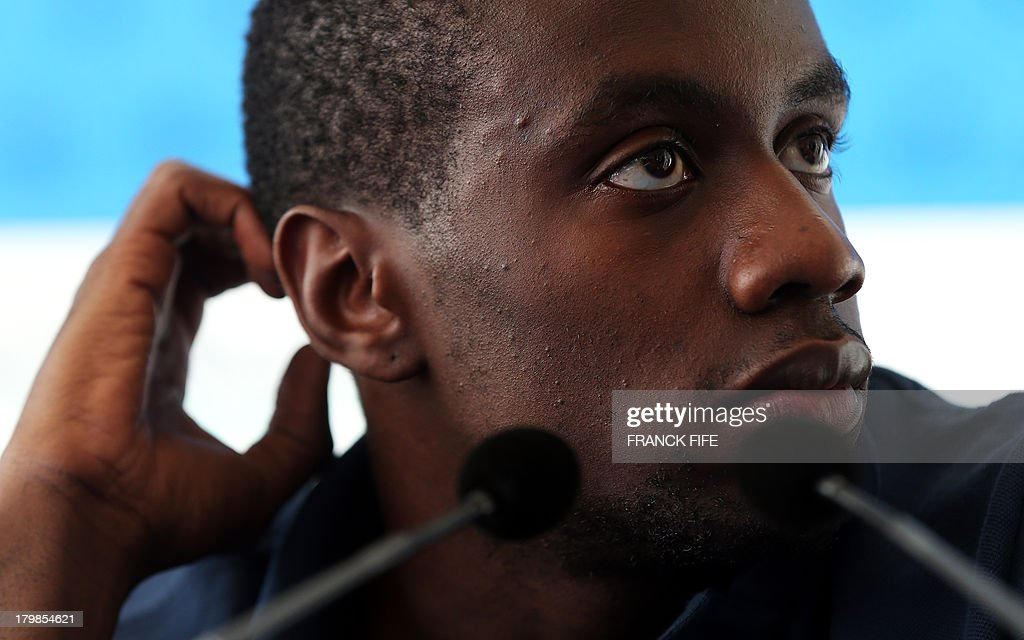 French national football team's Blaise Matuidi takes part in a press conference on September 7, 2013, after their FIFA World Cup 2014 qualifying football match Georgia vs France at the Boris Paichadze stadium in Tbilisi.