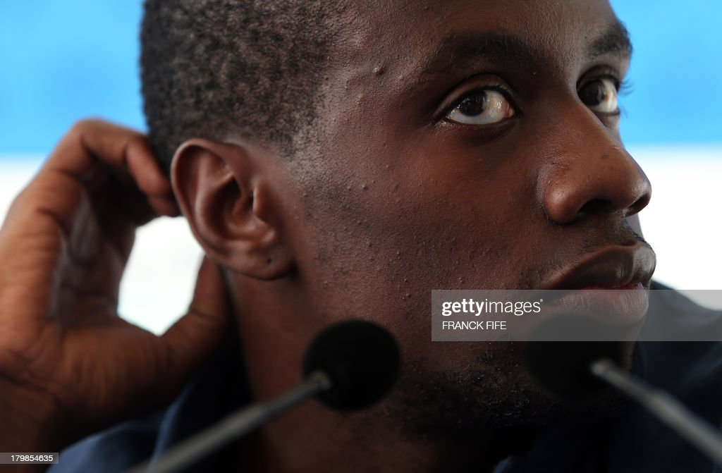 French national football team's Blaise Matuidi takes part in a press conference on September 7, 2013, after their FIFA World Cup 2014 qualifying football match Georgia vs France at the Boris Paichadze stadium in Tbilisi. AFP PHOTO / FRANCK FIFE