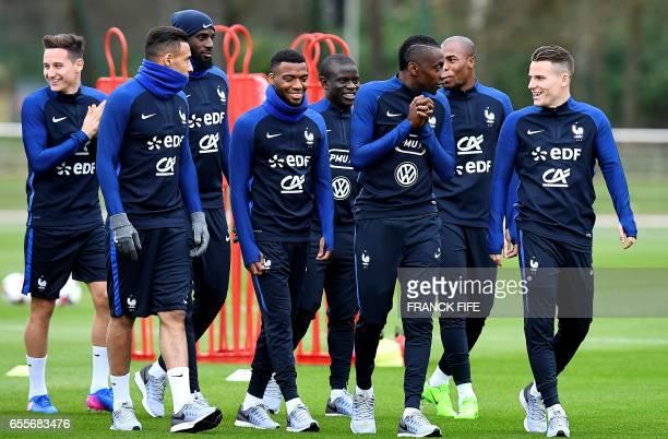 French national football team's Florian Thauvin midfielder Corentin Tolisso midfielder Thomas Lemar midfielder N'Golo Kante midfielder Blaise Matuidi...