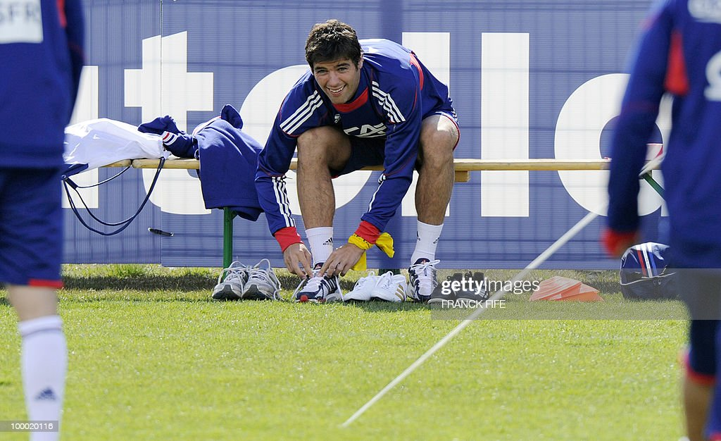 French national football team's midfielder Yoann Gourcuff attends a training session, on May 20 , 2010 in Tignes, French Alps, as part of their altitude training in preparation for the 2010 World cup in South Africa. France will play Uruguay in Capetown in its group A opener match on June 11.