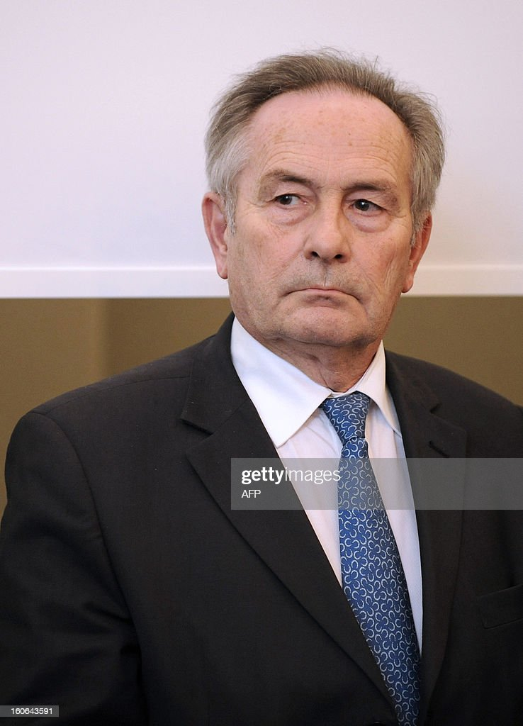 French National Radioactive Waste Management Agency (Andra) chairman of the Board François-Michel Gonnot is pictured during a press conference of French Ecology minister, on February 4, 2013 in Saudron, eastern France. VERHAEGEN