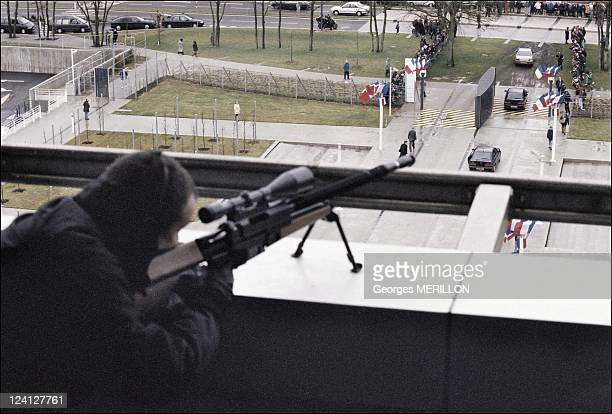 French National SWAT team RAID for the security of the world cup In Paris France On January 20 1998 French SWAT team keeps close watch over President...