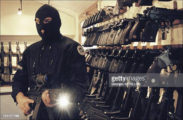 French National SWAT team RAID for the security of the world cup In France On January 20 1998 The RAID armory