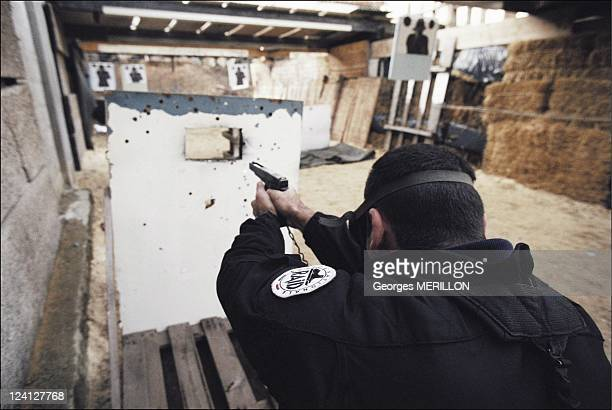 French National SWAT team RAID for the security of the world cup In France On January 20 1998 Shooting exercises at the Versailles RAID firing range