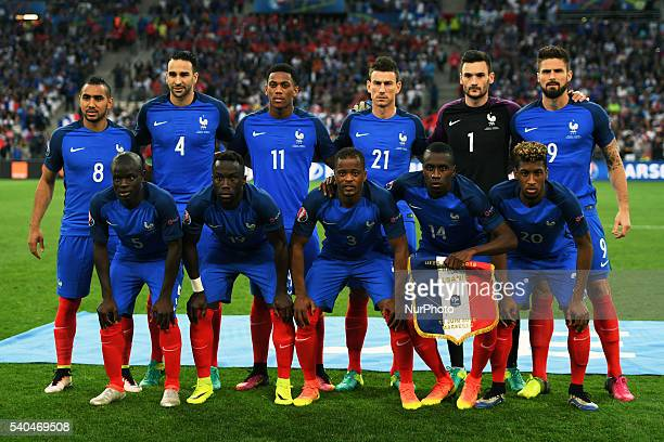 French national team poses for photo during the UEFA Euro 2016 Group A match between France and Albania at Stade Velodrome in Marseille France on...