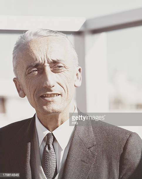 French naval officer and marine researcher Jacques Cousteau circa 1975