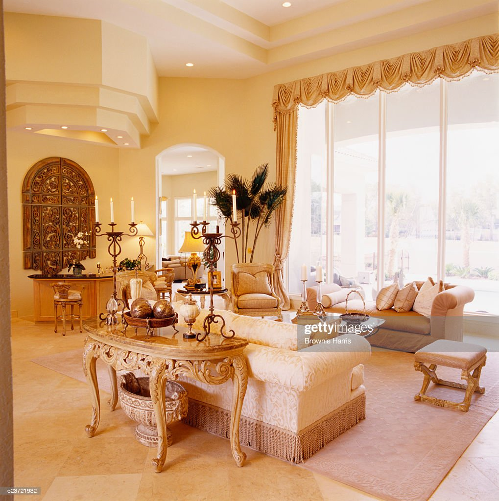 French formal living room - French Neoclassical Formal Living Room Stock Photo