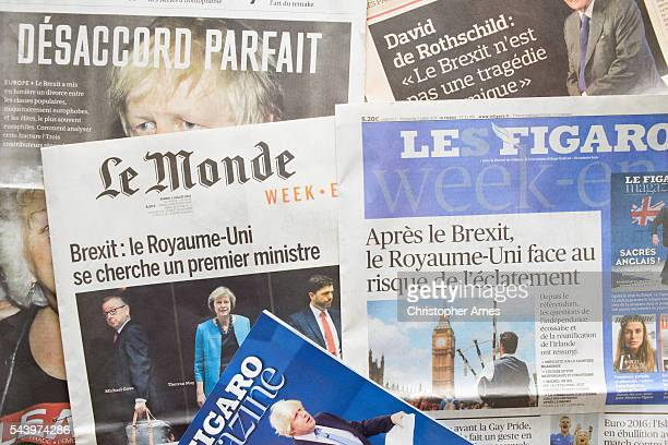 French newspapers react to post-Brexit UK Political fallout