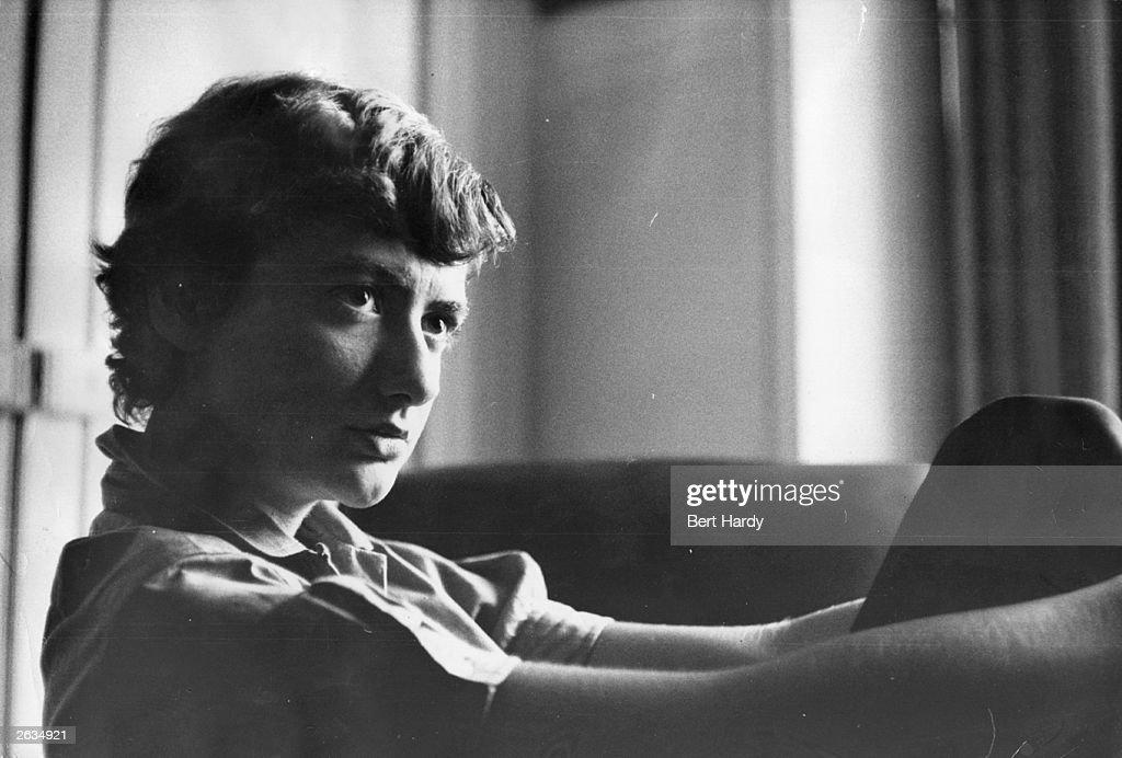 French novelist Francoise Sagan pen name of Francoise Quoirez in Paris Original Publication Picture Post 7921 The Shy Best Seller pub 1955