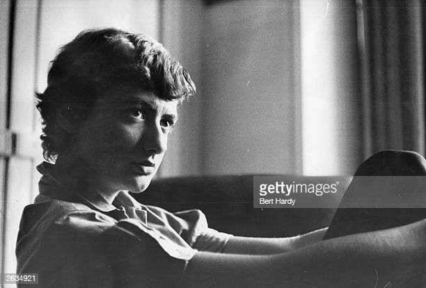 French novelist Francoise Sagan pen name of Francoise Quoirez in Paris Original Publication Picture Post 7921 The Shy Best Seller pub 1955