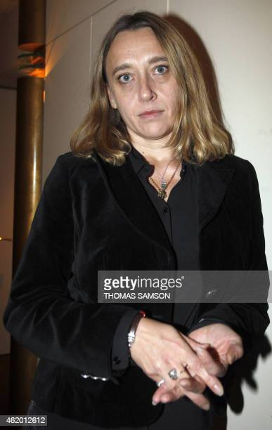 French novelist Virginie Despentes is pictured on November 8 2010 in Paris after receiving the 2010 French Renaudot literary award with 'Apocalypse...