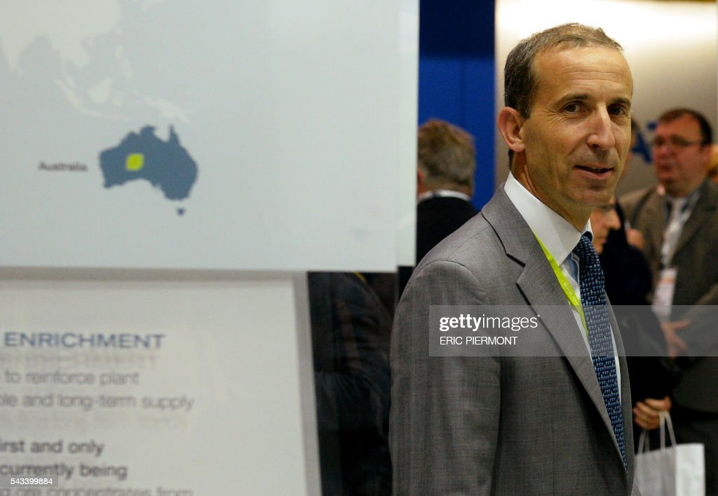 French nuclear giant Areva's Chief Executive Officer, Philippe Knoche, attends the World Nuclear Exhibition in Le Bourget, near Paris, on June 28, 2016. / AFP / ERIC