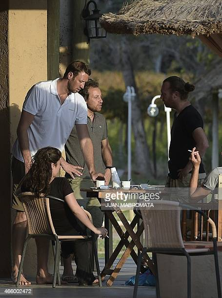 French Olympic champion swimmer Alain Bernard and figure skater Philippe Candeloro remain at a hotel in Villa Union in the Argentine province of La...