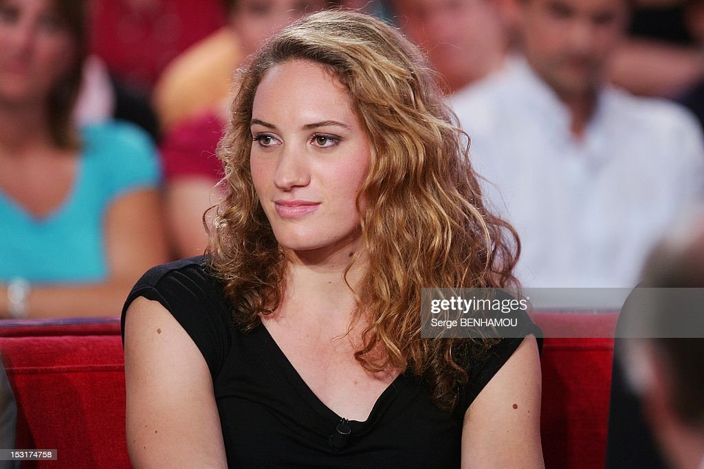 French olympic champion swimmer Camille Muffat attends 'Vivement Dimanche' Tv show on September 5 2012 in Paris France