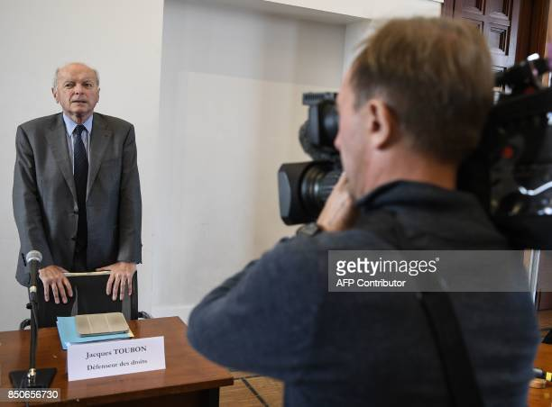 French Ombudsman Jacques Toubon waits to give a press conference about the results of a 'unprecedented' testing on discriminations in banking credit...