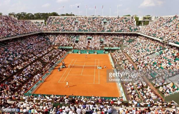 French Open 2003 Paris Uebersicht Court Philippe Chartrier